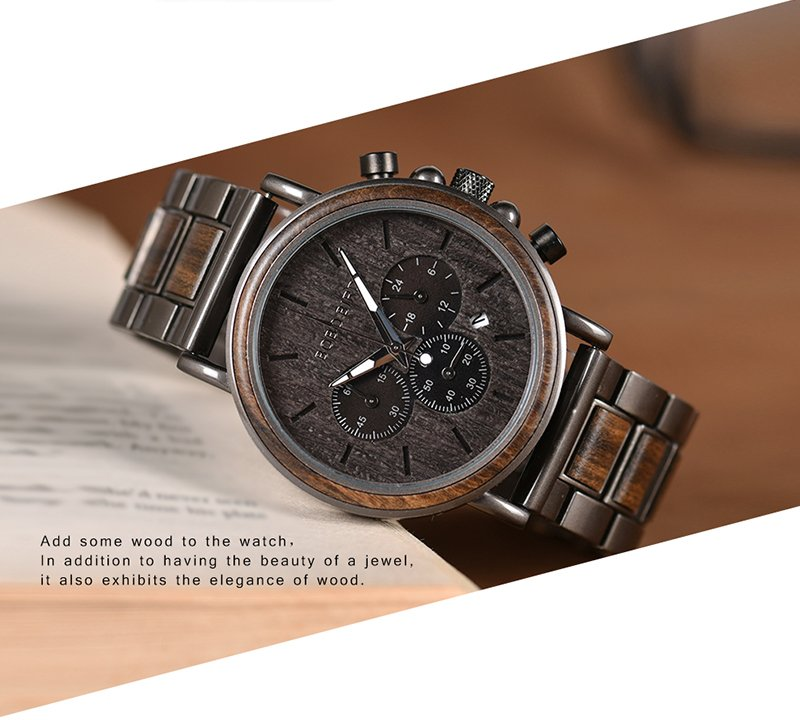 Men's Wooden Stylish Quartz Watch