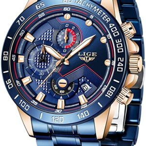 LIGE Stainless Military Watch
